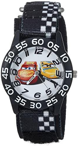 Disney Boy's 'Cars 3' Quartz Plastic and Nylon Casual Watch, Color:Black (Model: WDS000292)
